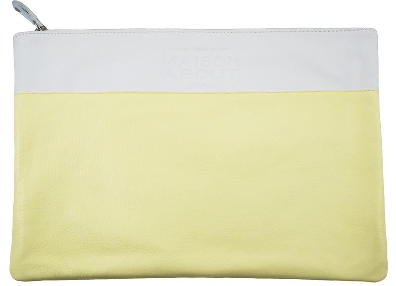 pochette bicolor gialla