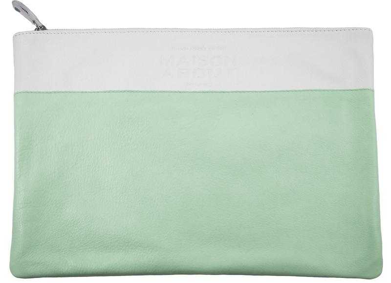 pochette bicolor verde