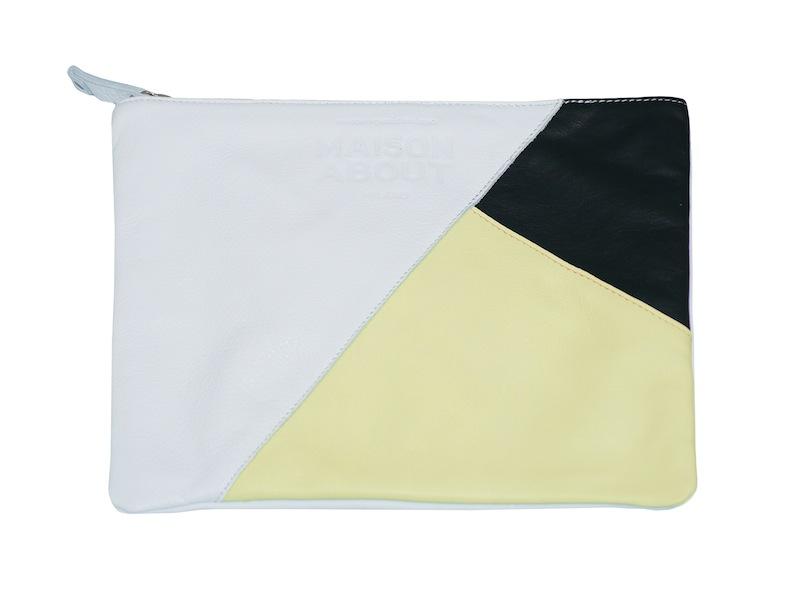 pochette tricolor gialla
