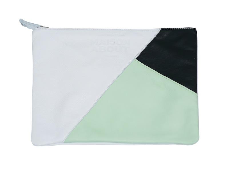 pochette tricolor verde