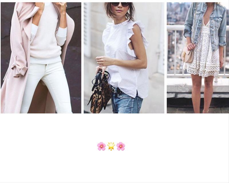 come indossare il bianco in primavera